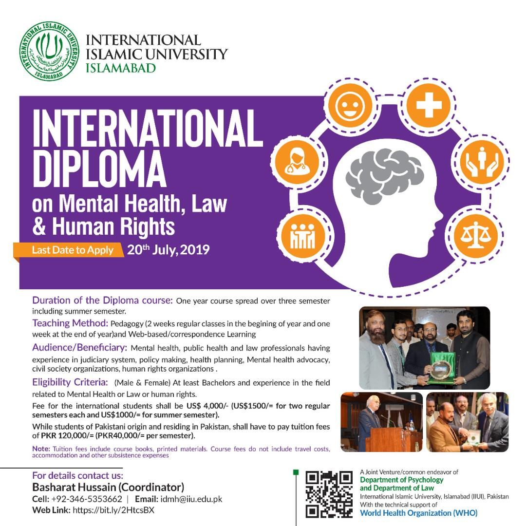 International Diploma On Mental Health Law And Human Rights