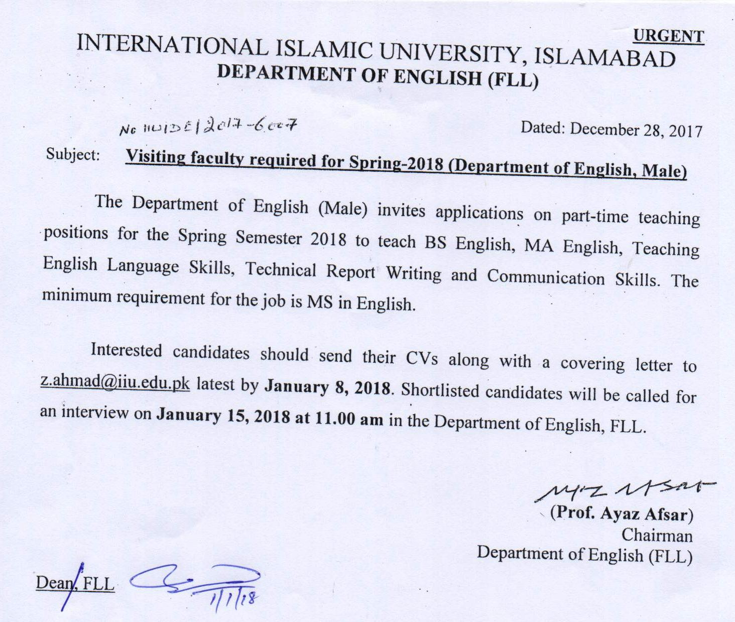 cover letter for academic job