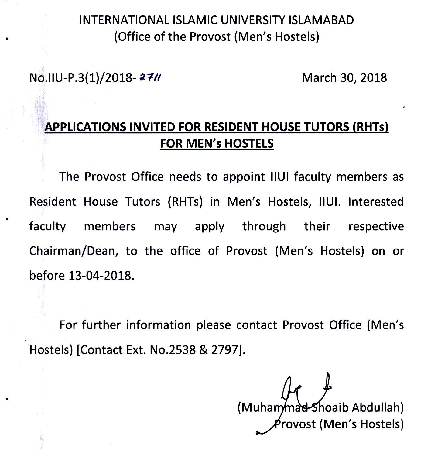 Job Archives   International Islamic University