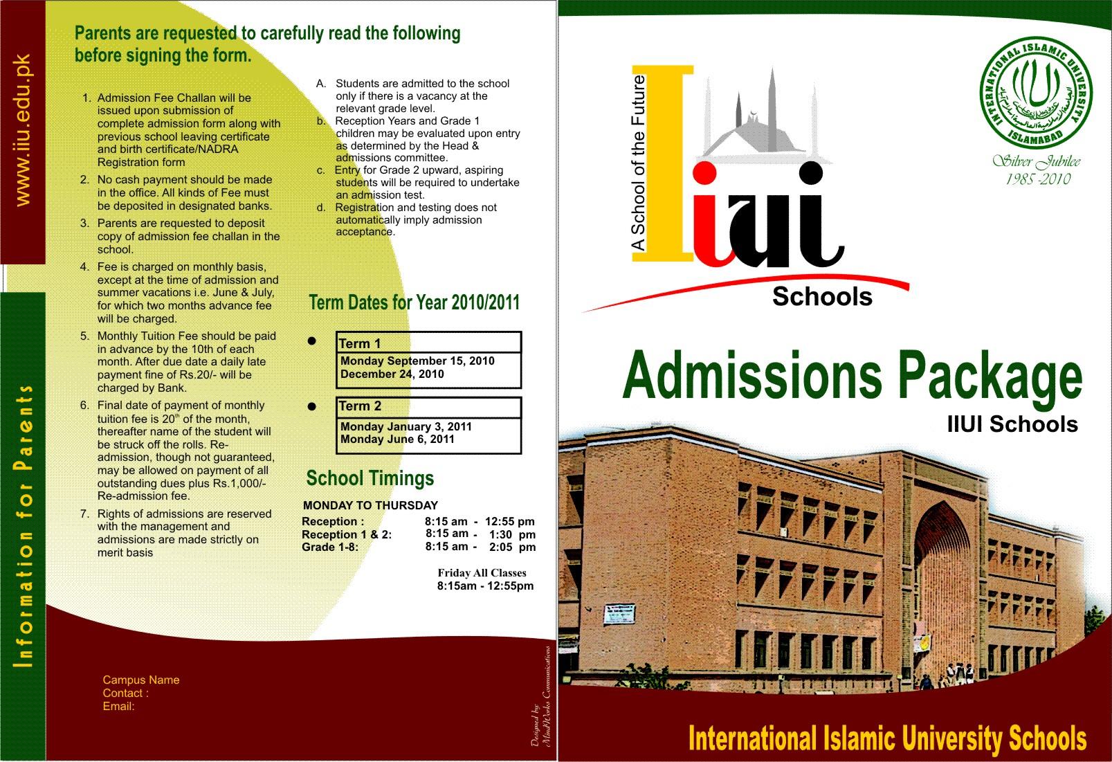 IIUI Schools brochure | International Islamic University